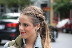 braid into ponytail