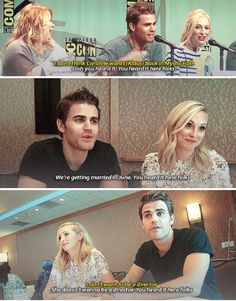 I think Paul likes that saying a little TOO much 😂😉 Paul Wesley Vampire Diaries, Vampire Diaries Quotes, Vampire Diaries Cast, Vampire Diaries The Originals, Stefan And Caroline, Caroline Forbes, Aesthetic Names For Instagram, Ian Somerhalder Vampire Diaries, Vampier Diaries
