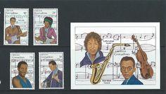 Grenadines of Grenada 1989 UMM Musicians sg 1186/9 MS1190 Listing in the Grenada (1974 onwards),South & Central America,Stamps Category on eBid United Kingdom