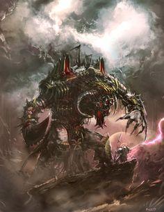 wh40khq:  Warhammer - Grey Knight VS Greater Daemon by ~Bradwhitlam