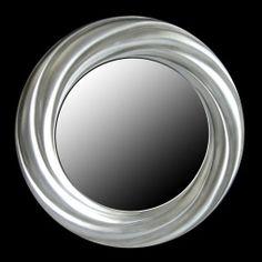 Κυκλικός καθρέφτης με επένδυση από φύλλο ασήμι, Νο 4008-S  Διάσταση διαμέτρου 84 cm. Τιμή 260€