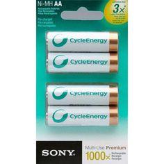 Sony Cycle Energy NIMH Rechargable Batteries $7.99