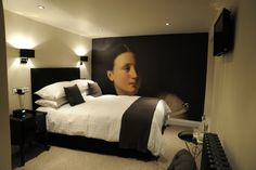 Surface View mural in the Swain House boutique B in Somerset ... fantastic! Each room is kitted out with an individual Surface View mural from either our National Gallery or National Portrait Gallery Image Collections :)