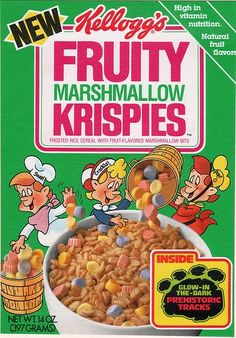 What a bummer that this cereal was discontinued.it was one of my favorites; the best cereal ever! Retro Recipes, Vintage Recipes, Marshmallow Rice Krispies, 80s Food, Retro Food, Cereal Killer, Breakfast Of Champions, 80s Kids, Oldies But Goodies