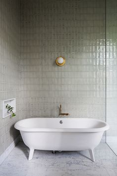TILES Hecker Guthrie Transforms Men's Retirement Home Into a Grand Victorian Residence Bathroom Interior, Bathroom Decor, Beautiful Bathrooms, Tile Bathroom, Free Standing Bath Tub, Bathroom Interior Design, House Interior, Victorian Homes, Bathroom Design