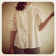 #Vintage white #shirt