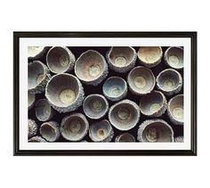 "Circle Pattern by Lupen Grainne, 42 x 28"", Ridged Distressed, Black, Mat"