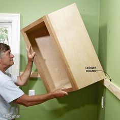 Start With the Upper Cabinets