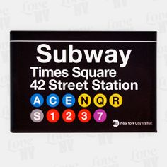 Jeder New York City Besucher kennt diese typisch New Yorker Subway-Schilder. Nun auch als praktische Magneten erhältlich können Sie diese überall anbringen und sich somit wie am Times Square an der 42 Street Station fühlen. Offiziell MTA lizensiert und ausgezeichnet verarbeitet. #mta #subway #nyc #newyorkcity #ny #newyork #times_square #timessquare #42nd #transit