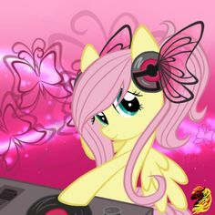 Even when she's dropping sick beatz, Fluttershy is still adorable!