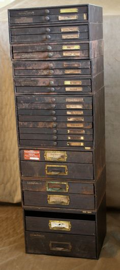 RESERVED Steampunk industrial watchmakers cabinet, probably tons of storage Industrial Chic, Industrial Furniture, Vintage Industrial, Antique Furniture, Diy Furniture, Vintage Metal, Industrial Storage, Industrial Design, Vintage Chest