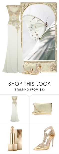 """Butterfly - White Mimicry"" by flowerchild805 ❤ liked on Polyvore featuring Jovani, Kate Spade, Burberry, René Caovilla, Mask, women's clothing, women, female, woman and misses"