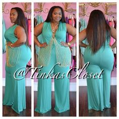 Tinka's Closet  - TEAL CASUAL CHIC JUMPSUIT, $78.00 (http://www.tinkascloset.com/teal-casual-chic-jumpsuit/)