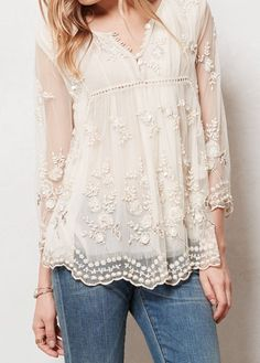 Pretty lace top: Meadow of the Linden Tree
