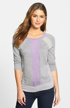 Halogen® Three Quarter Sleeve Sweater (Regular & Petite) available at #Nordstrom
