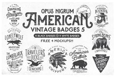 American Vintage Badges 5 by OpusNigrum on Creative Market