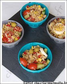 Salade de riz aux maquereaux