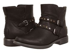 UGG Camile Studded Moto Bootie leather black 5.5sh 1h (250.00) 4/15 NA