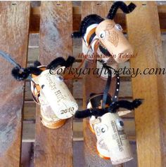 University of Texas Longhorn Christmas ornaments by Corkycrafts