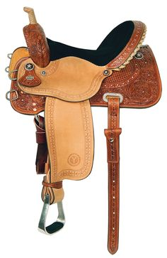 Some day I want to own this saddle! i really really reallly LOVE IT! Kelly Kaminski Big Dreams Shining Star Barrel Racing Saddle by Circle Y Western Horse Saddles, Western Tack, Western Riding, Barrel Racing Saddles, Barrel Saddle, Barrel Horse, Horse Gear, My Horse, Horse Tips