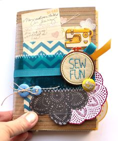 sew fun - so many cute embellishments that could be scrap lifted to make a page about sewing