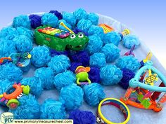 Pirates - Under the Sea Themed Sensory Toys Multi-sensory - Instruments - Sponges Tuff Tray Ideas and Activities