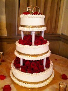 Hoyle 50th wedding anniversary cake