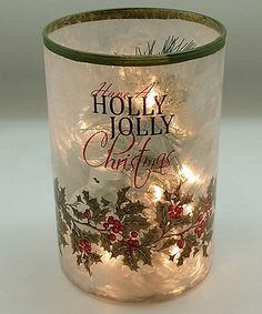 Look what I found on #zulily! 'Holly Jolly' Painted Glass Jar #zulilyfinds