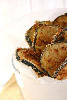 baked zucchini chips   the boot