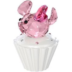 Swarovski Cupcake Box With Mouse, Pink New Baby Heart Crystal Figurine 1194042 Glass Figurines, Collectible Figurines, Swarovski Crystal Figurines, Swarovski Crystals, Cut Glass, Glass Art, Pink New Baby, Cupcake Boxes, Pink Cupcakes