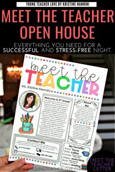 How to Plan Your Meet the Teacher Open House Night - Young Teacher Love - - Need tips for how to plan your Meet the Teacher Open House night? This post provides a meet the teacher editable template, parent letter, and other ideas. Teacher Forms, Letter To Teacher, Letter To Parents, Parents As Teachers, Back To School Ideas For Teachers, Parent Letters From Teachers, Teacher Introduction Letter, Survival Kit For Teachers, Teacher Survival
