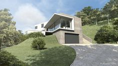 maison-contemporaine-a2-sb-sebastien-belle-maison-u-thonon-les-bains-2   Flickr - Photo Sharing! Cabana, Architecture Design, 1, House Design, Mansions, House Styles, Home Decor, Log Projects, New Homes