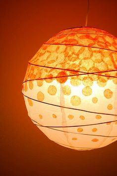 dotted tissue paper lantern by swelldesigner, via Flickr