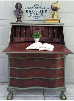 Java Gel Stained Secretary | General Finishes Design Center