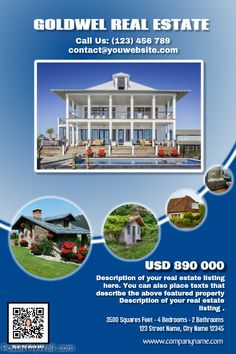 Blue real estate flyer with a QR code http://www.postermywall.com/index.php/poster/view/fd2f25a3cc0fab3bf6f873f82e483391