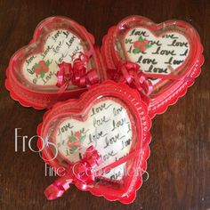 3.5 inch heart shaped cookie box