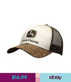 Hats John Deere Bark Bill Mesh Back Hat  ebay  Fashion Mesh f932dacaa9be