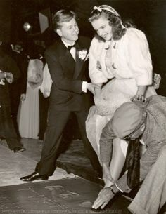 Mickey Rooney & Judy Garland at Grauman's Chinese Theatre