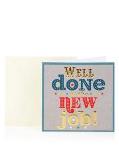 Foiled New Job Greetings Card | M&S