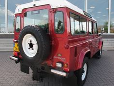 red land rover defender - Google Search