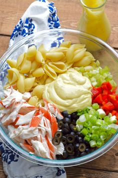 cool Crab Pasta Salad - Wine & Glue