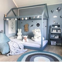 Sprinkle some of that beauty in your room with our floral collection! Baby Bedroom, Baby Boy Rooms, Little Girl Rooms, Girls Bedroom, Toddler Floor Bed, Kids Bed Frames, Baby Playroom, Baby Room Design, Kid Beds