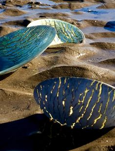 Fused glass Tides Series by Claire Hall