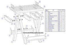 Camping stool plan - Parts list
