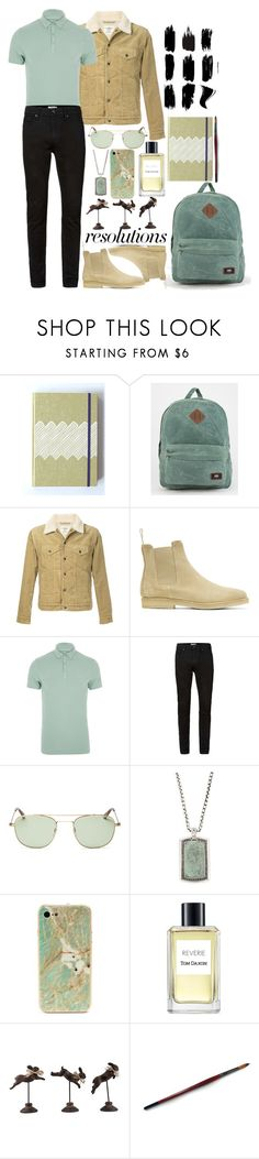 """""""#PolyPresents: New Year's Resolutions"""" by i-reti-illustration ❤ liked on Polyvore featuring Vans, Kent & Curwen, Common Projects, River Island, Topman, Garrett Leight, John Hardy, ROXXLYN, Tom Daxon and Transpac"""