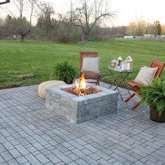 How to Build a Paver Patio with a Built-In Fire pit