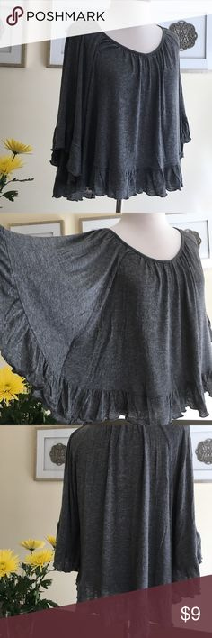 Body central grey butterfly blouse size S Gently used. 96% rayon, 4% spandex Body Central Tops Blouses