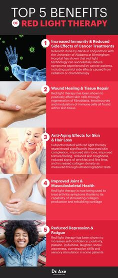 Red light therapy benefits - Dr. Axe http://www.draxe.com #health #holistic #natural