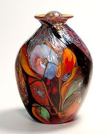 Vase/Urn 5292 Odyssey Art Glass by Tom Michael. www.tommichael.com