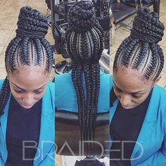Big Braids, Braids For Kids, Braids For Black Hair, Girls Braids, Cornrow Updo Hairstyles, Cornrow Ponytail, Kid Braid Styles, Transitioning Hairstyles, Feed In Braid